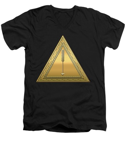 21st Degree Mason - Noachite Or Prussian Knight Masonic  Men's V-Neck T-Shirt by Serge Averbukh