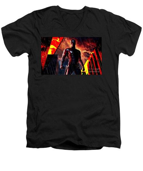 Daredevil Collection Men's V-Neck T-Shirt by Marvin Blaine