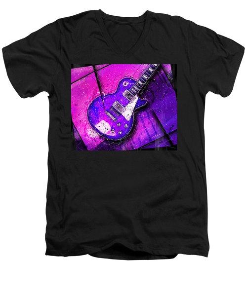 59 In Blue Men's V-Neck T-Shirt by Gary Bodnar