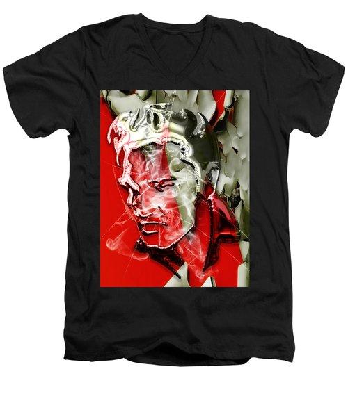 Elvis Presley Collection Men's V-Neck T-Shirt by Marvin Blaine