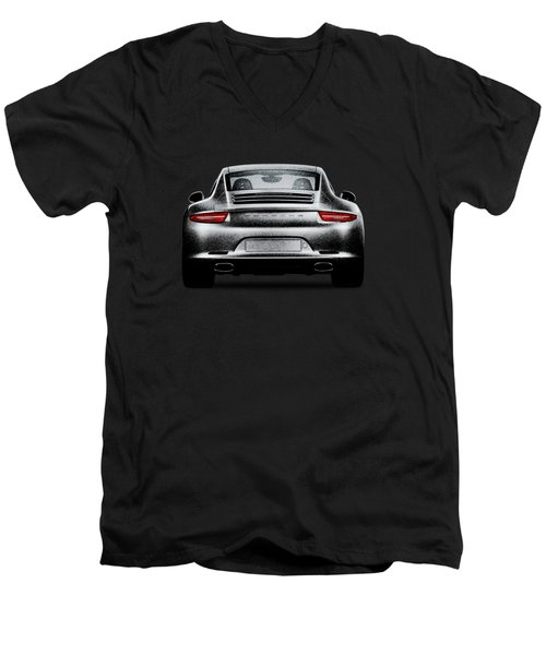 911 Carrera Men's V-Neck T-Shirt by Mark Rogan