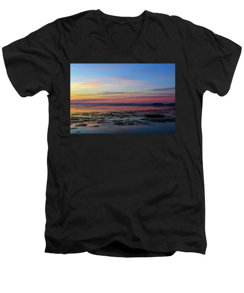 Men's V-Neck T-Shirt featuring the photograph A Change Of Season by Thierry Bouriat