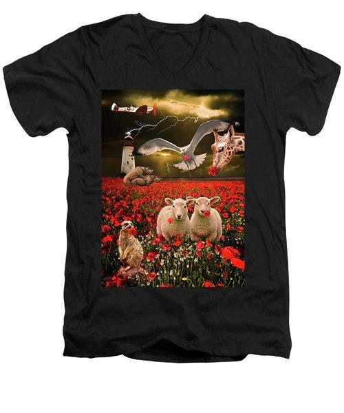 A Very Strange Dream Men's V-Neck T-Shirt by Meirion Matthias