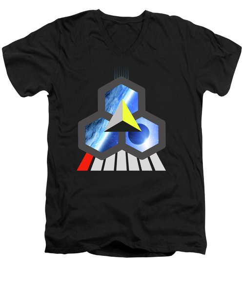 Abstract Space 1 Men's V-Neck T-Shirt by Russell K