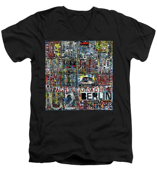 Achtung Baby Men's V-Neck T-Shirt by Frank Van Meurs