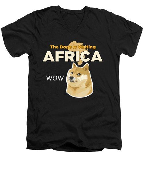 Africa Doge Men's V-Neck T-Shirt by Michael Jordan