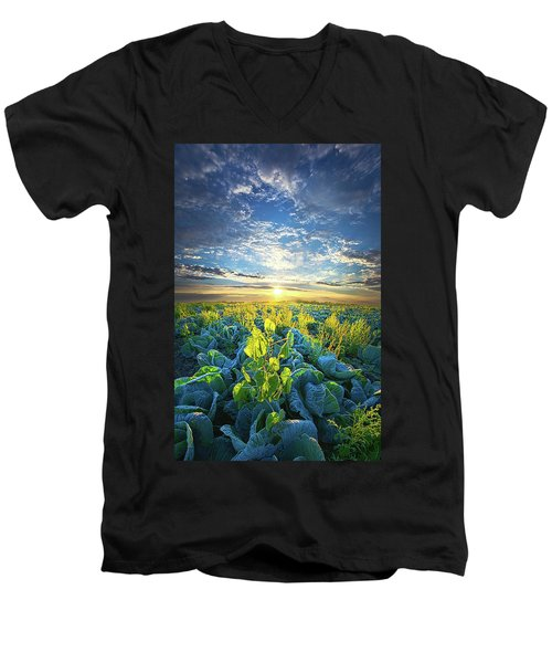 All Joined As One Men's V-Neck T-Shirt by Phil Koch