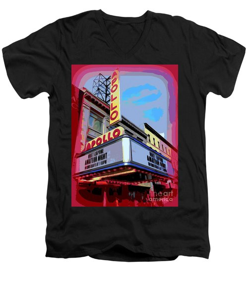 Amateur Night At The Apollo Men's V-Neck T-Shirt by Ed Weidman