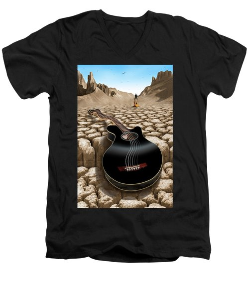 An Acoustic Nightmare 2 Men's V-Neck T-Shirt by Mike McGlothlen