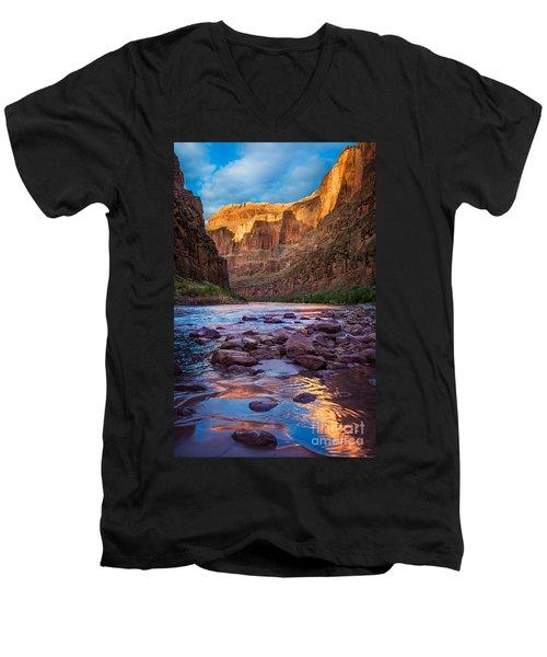 Ancient Shore Men's V-Neck T-Shirt by Inge Johnsson