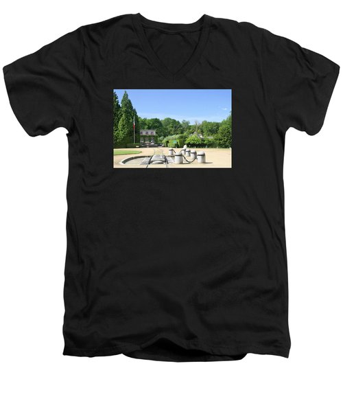 Men's V-Neck T-Shirt featuring the photograph Armistice Clearing In Compiegne by Travel Pics