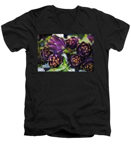 Artichokes  Men's V-Neck T-Shirt by Joana Kruse