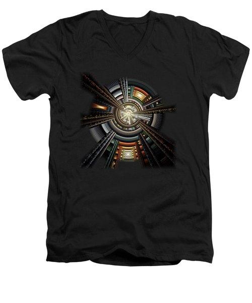 Space Station Men's V-Neck T-Shirt by Anastasiya Malakhova