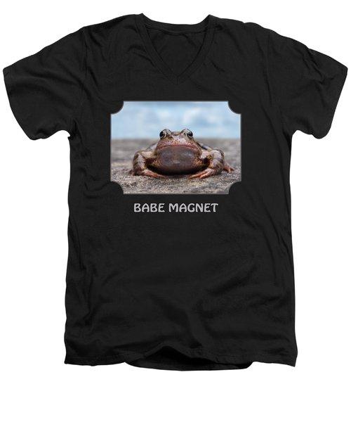 Babe Magnet Men's V-Neck T-Shirt by Gill Billington