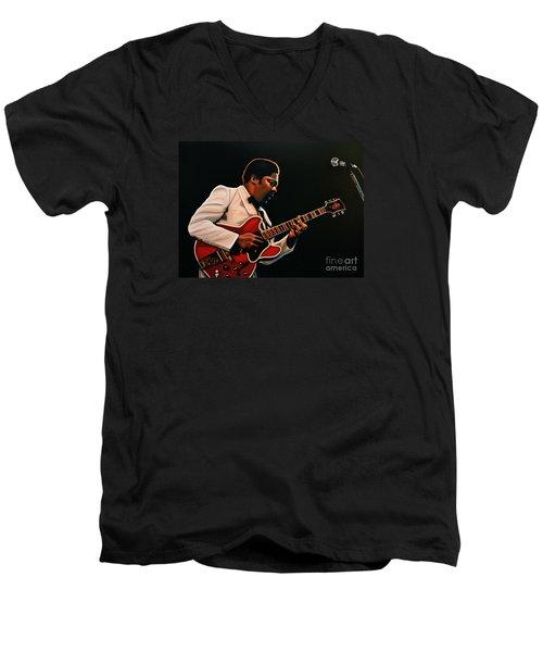 B. B. King Men's V-Neck T-Shirt by Paul Meijering