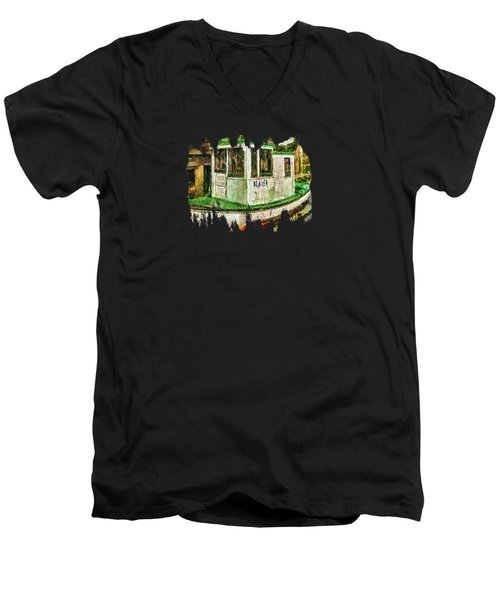 Beaver The Old Fishing Boat Men's V-Neck T-Shirt by Thom Zehrfeld