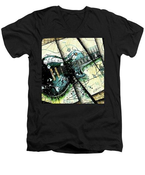 Black Beauty C 1  Men's V-Neck T-Shirt by Gary Bodnar
