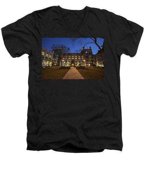 Blue Hour Harper Men's V-Neck T-Shirt by CJ Schmit