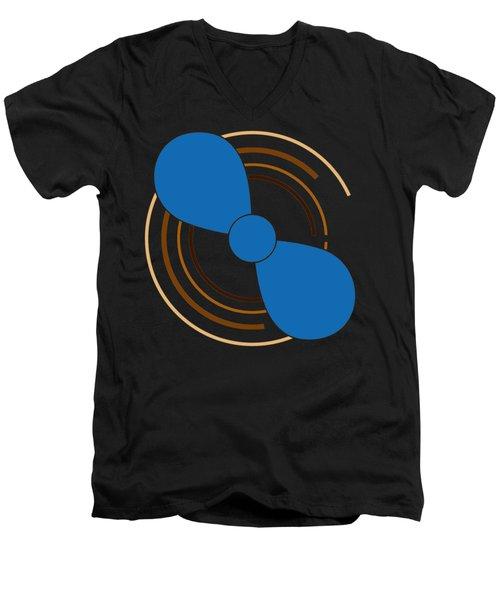 Blue Propeller Men's V-Neck T-Shirt by Frank Tschakert