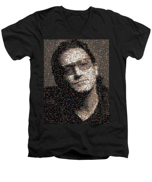 Bono U2 Albums Mosaic Men's V-Neck T-Shirt by Paul Van Scott