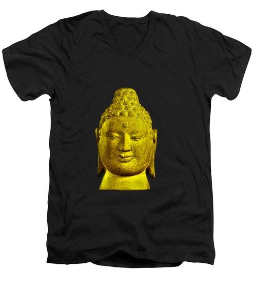 Borobudur Gold  Men's V-Neck T-Shirt by Terrell Kaucher