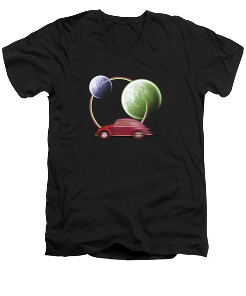 Car Space  Men's V-Neck T-Shirt by Mark Ashkenazi