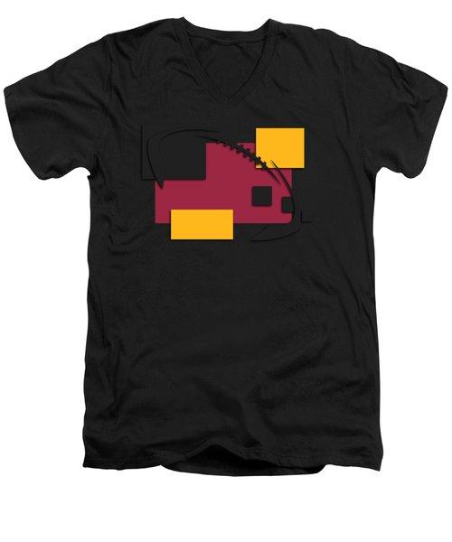 Cardinals Abstract Shirt Men's V-Neck T-Shirt by Joe Hamilton