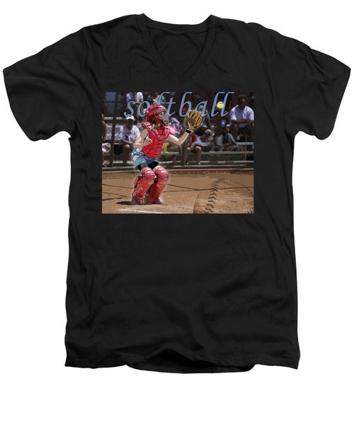 Catch It Men's V-Neck T-Shirt by Kelley King