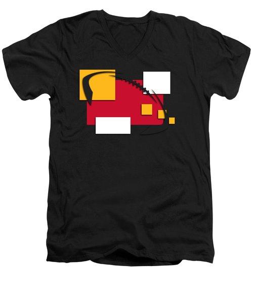Chiefs Abstract Shirt Men's V-Neck T-Shirt by Joe Hamilton