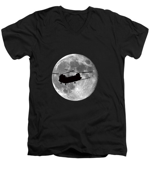 Chinook Moon .png Men's V-Neck T-Shirt by Al Powell Photography USA