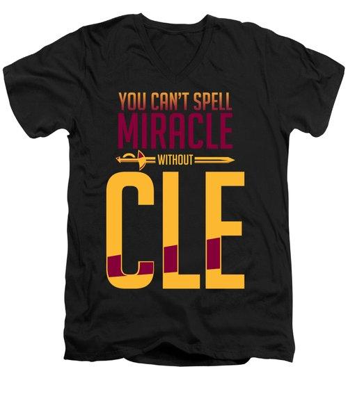 cle Men's V-Neck T-Shirt by Augen Baratbate