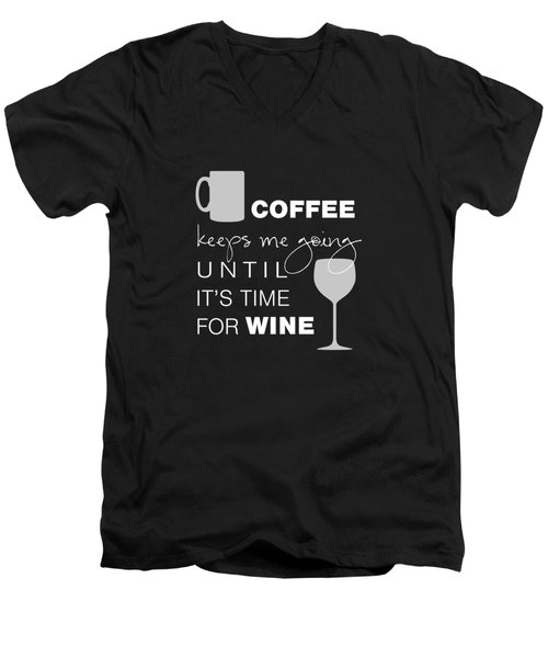 Coffee And Wine Men's V-Neck T-Shirt by Nancy Ingersoll