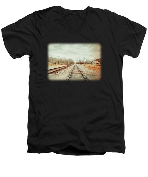 Col. Larmore's Link Men's V-Neck T-Shirt by Anita Faye