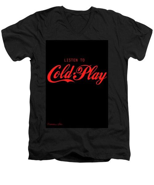 Coldplay Men's V-Neck T-Shirt by Poojit Rasalkar
