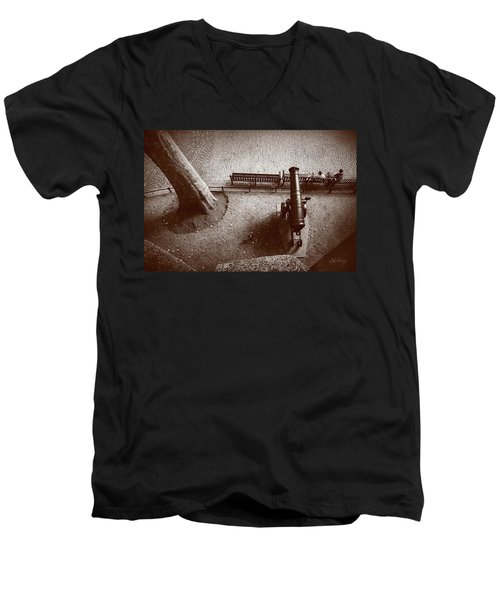 Defending London Men's V-Neck T-Shirt by Joseph Westrupp