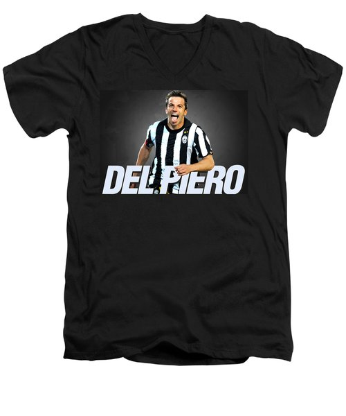 Del Piero Men's V-Neck T-Shirt by Semih Yurdabak