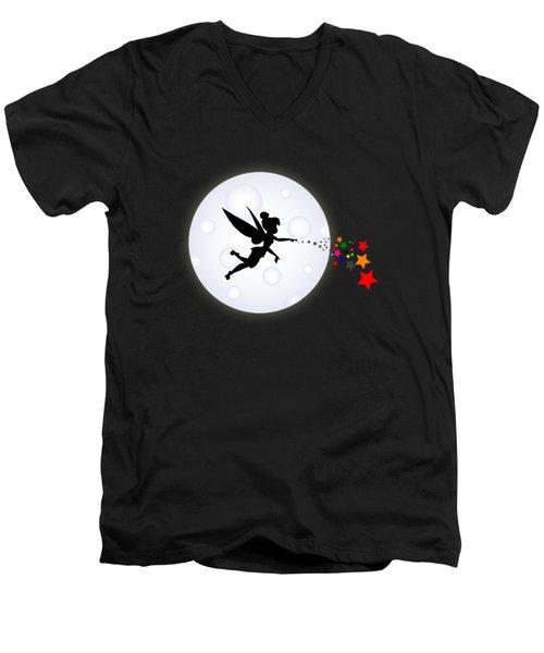 Elf Starry Night Men's V-Neck T-Shirt by Koko Priyanto