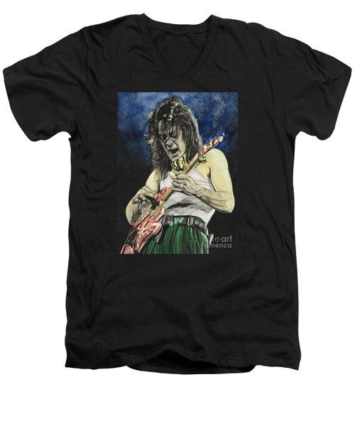 Eruption  Men's V-Neck T-Shirt by Lance Gebhardt
