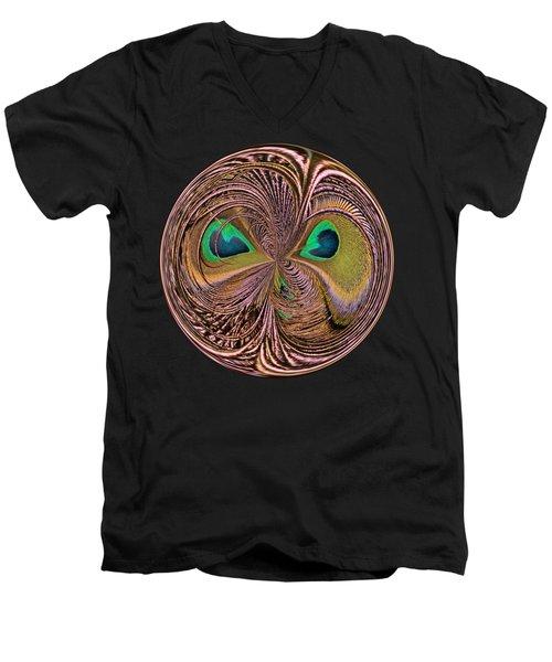 Feather Eyes Orb Men's V-Neck T-Shirt by Marv Vandehey