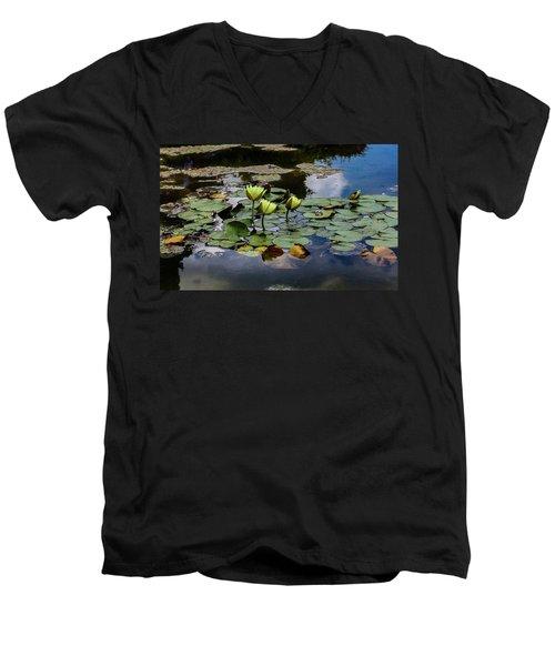 Floating Men's V-Neck T-Shirt by Linda Foakes