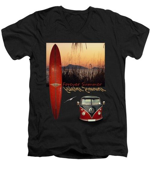 Forever Summer 1 Men's V-Neck T-Shirt by Linda Lees