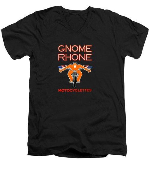 Gnome Rhone Motorcycles Men's V-Neck T-Shirt by Mark Rogan