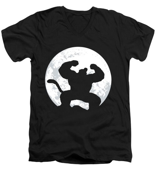 Great Ape Men's V-Neck T-Shirt by Danilo Caro