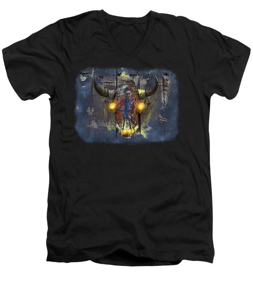 Halloween Shirt And Accessories Men's V-Neck T-Shirt by John M Bailey