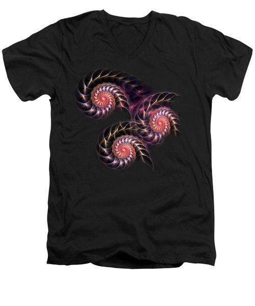 Happy Lights Men's V-Neck T-Shirt by Anastasiya Malakhova