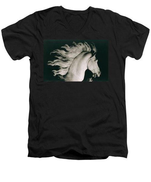 Horse Of Marly Men's V-Neck T-Shirt by Coustou