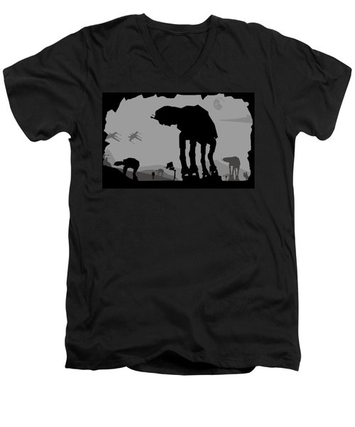 Hoth Machines Men's V-Neck T-Shirt by Michael Bergman