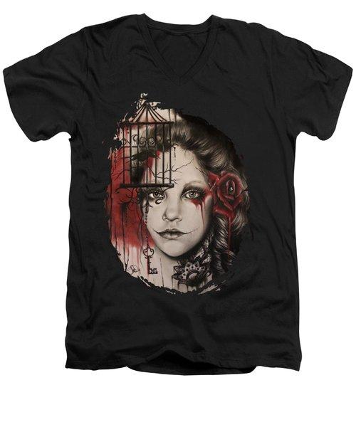 Inner Demons  Men's V-Neck T-Shirt by Sheena Pike