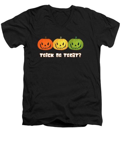 Jack-o-lanterns Men's V-Neck T-Shirt by Methune Hively