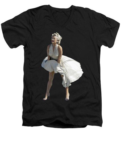 Key West Marilyn - Special Edition Men's V-Neck T-Shirt by Bob Slitzan
